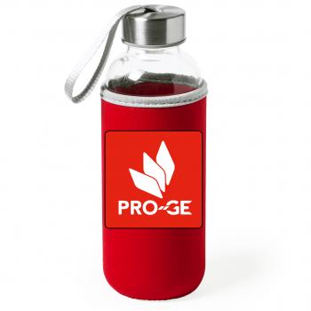 Glastrinkflasche im PRO-GE Design